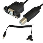 USB cable 1.5m, rolled, for panel mounting B female/B male (To mount UC300 into a control cabinet)